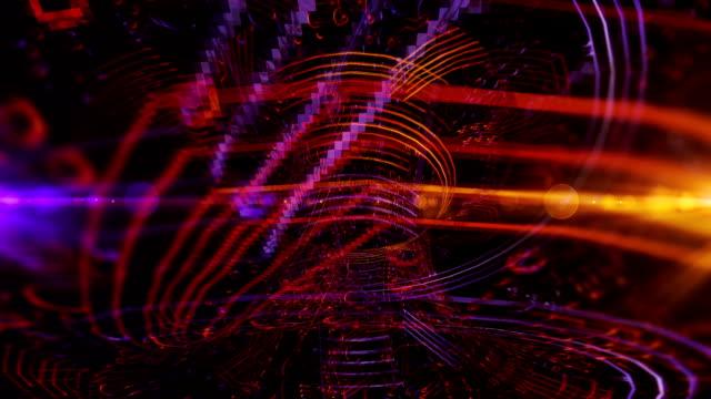 抽象的なバイナリトンネル - パソコンケーブル点の映像素材/bロール