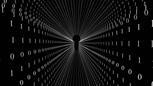 vidéos et rushes de abstrait tunnel binaire - infini