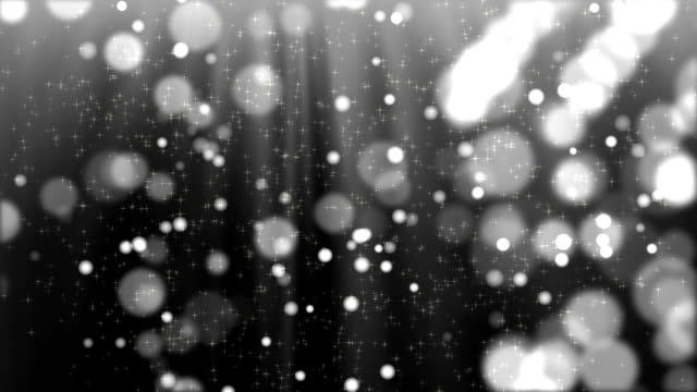Abstract black and white bokeh with snow