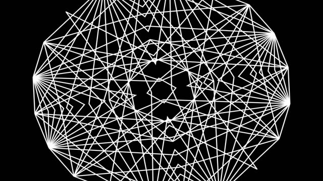 abstract black and white kaleidoscope pattern, animation - complexity stock videos & royalty-free footage