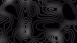 abstract black digital shiny texture wave material movement background, seamless loop, with lines circles like
