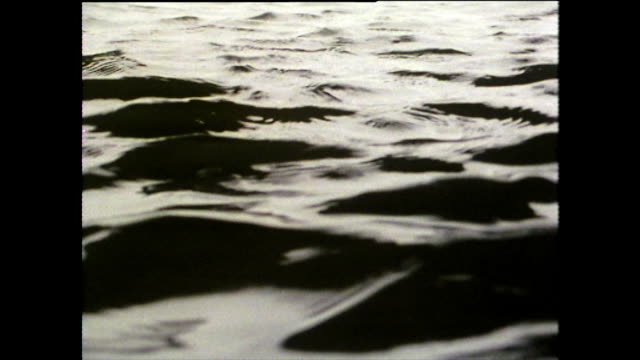 cu abstract 'black' river water ripples; hiroshima, 1975 - pattern stock videos & royalty-free footage