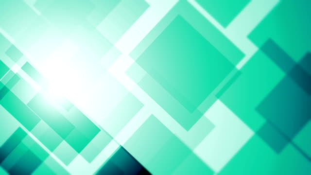 abstract blocks background (loopable) - turquoise coloured stock videos & royalty-free footage