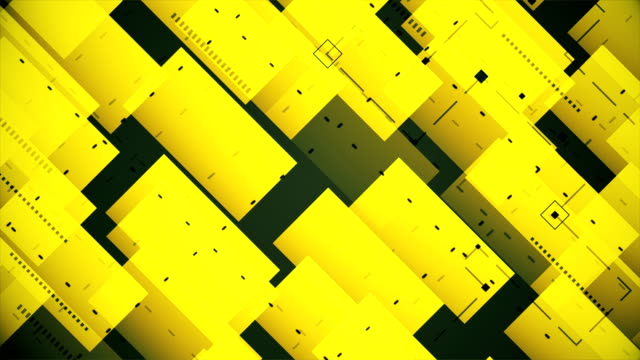 abstract blocks background (loopable) - yellow background stock videos & royalty-free footage