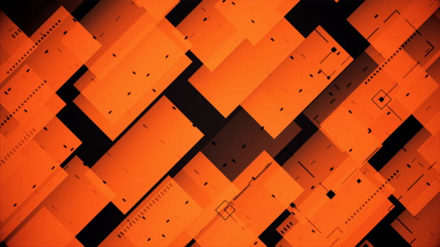 abstract blocks background (loopable) - orange stock videos & royalty-free footage