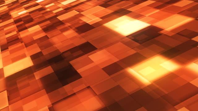 vídeos y material grabado en eventos de stock de fondo abstracto de bloques (loopable) - fondo naranja