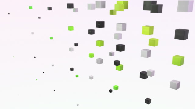 abstract blocks wave - green yellow (full hd) - cube stock videos & royalty-free footage