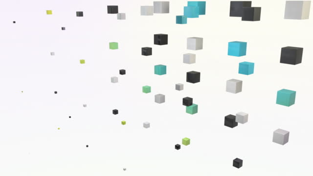 abstract blocks wave - rainbow change (full hd) - cube shape stock videos & royalty-free footage