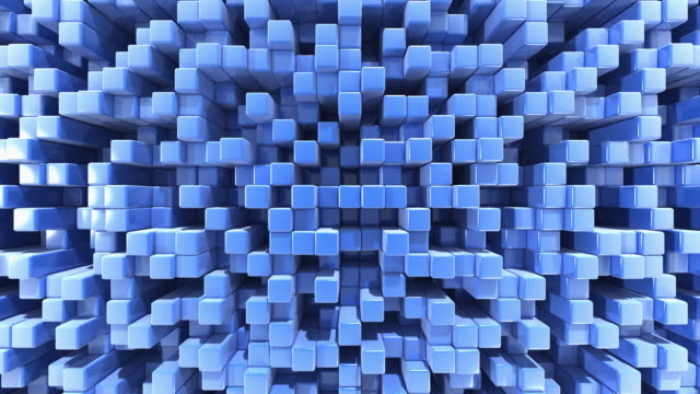 Abstract blue 3d background