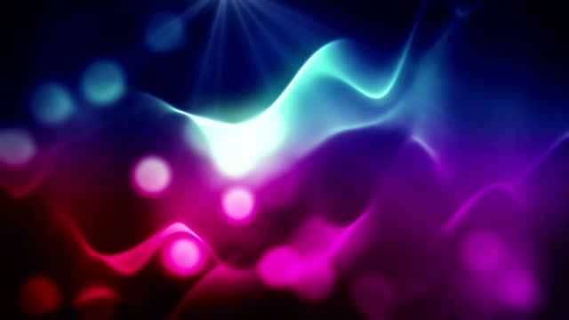 Abstract blue and purple lights with bokeh loopable background
