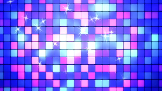 abstract blue and purple square tiles loopable background - tile stock videos & royalty-free footage