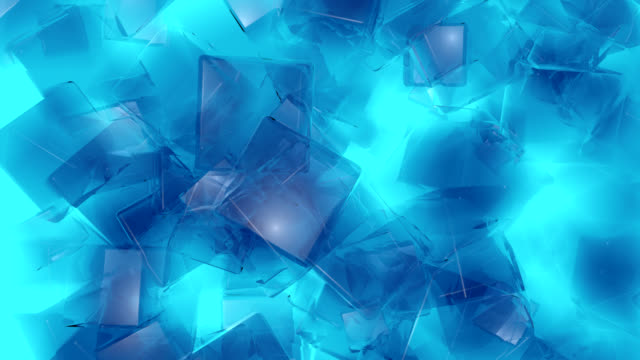 Abstract Blue Background from ice cubes