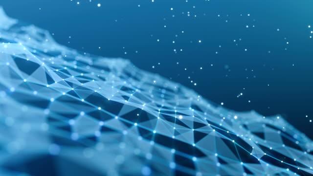 vídeos y material grabado en eventos de stock de fondo abstracto azul (en bucle - malla alámbrica