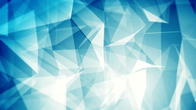 vídeos de stock e filmes b-roll de abstract blue background (loopable) - formas geométricas