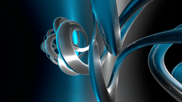 (Loop)abstract blue background-HD