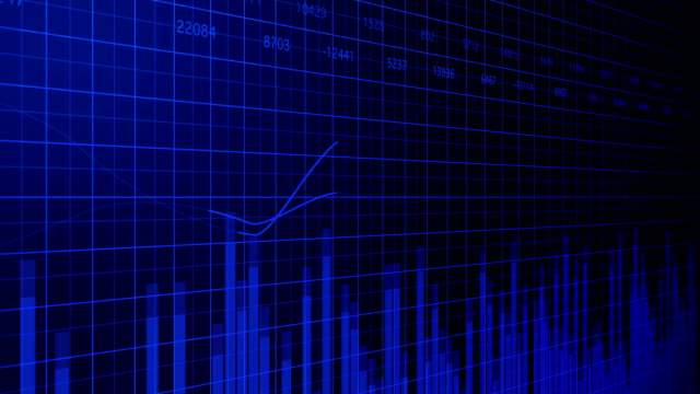abstract blue business stock market graph - line graph stock videos & royalty-free footage