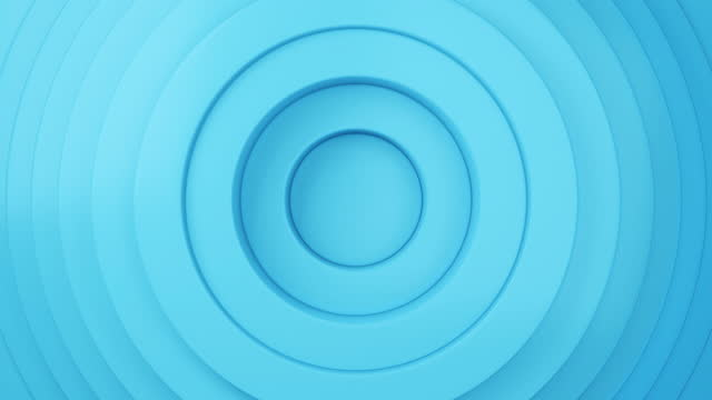abstract blue circle loop background. loopable 3d rendered animation - complexity stock videos & royalty-free footage