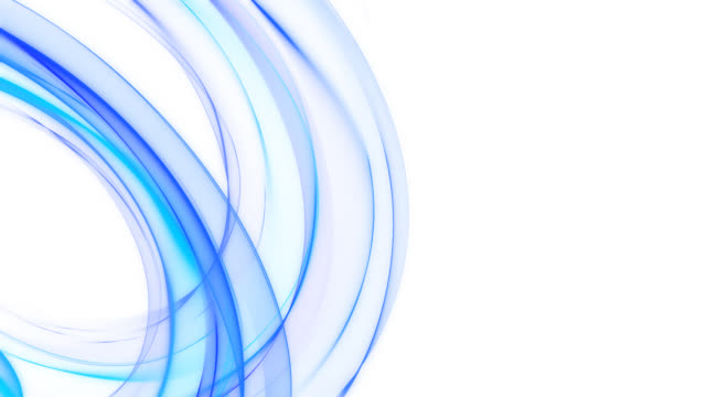 abstract blue curving lines - HD loop