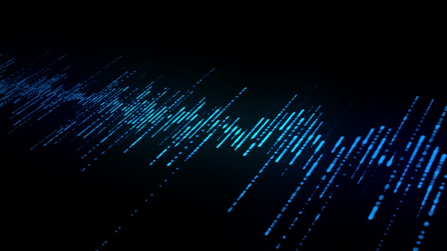 abstract blue digital equalizer, vector of sound wave pattern element - wave stock videos & royalty-free footage