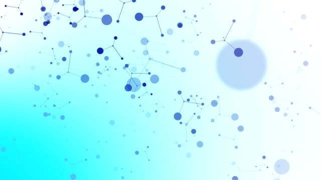 Abstract Blue DNA Molecular Structure Animated Background (Loopable)