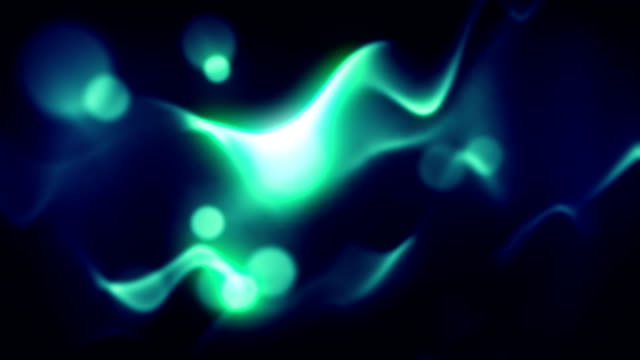 Abstract blue lights with bokeh loopable background