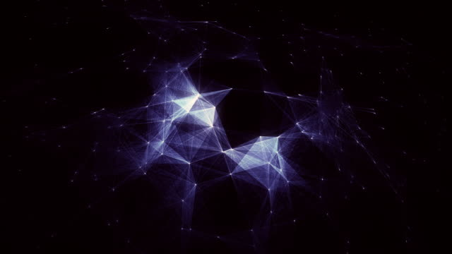 Abstract blue loopable background with connections / cg animation