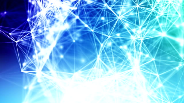 Abstract blue network connections loopable background footage