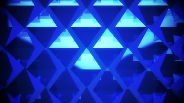 Abstract blue pyramid background