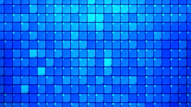abstract blue square tiles loopable background - tile stock videos & royalty-free footage
