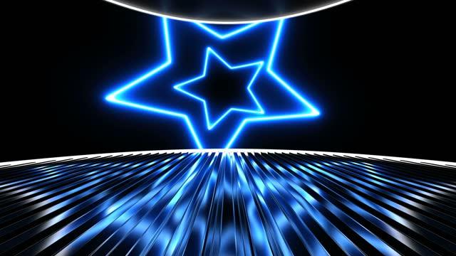 stockvideo's en b-roll-footage met achtergrond van het abstracte blauwe stervormgebied - star shape