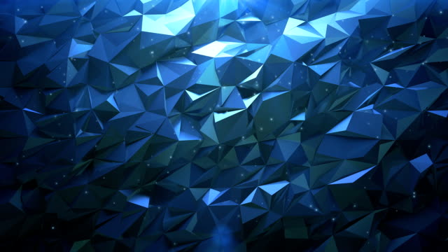 abstract blue textured background with triangle shapes - mosaic stock videos and b-roll footage