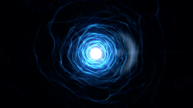 Abstract Blue tunnel