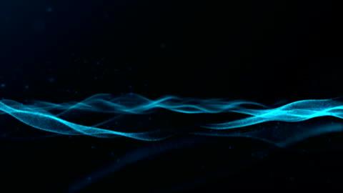 vídeos y material grabado en eventos de stock de fondo de patrón de onda azul abstracto - diseño ondulado