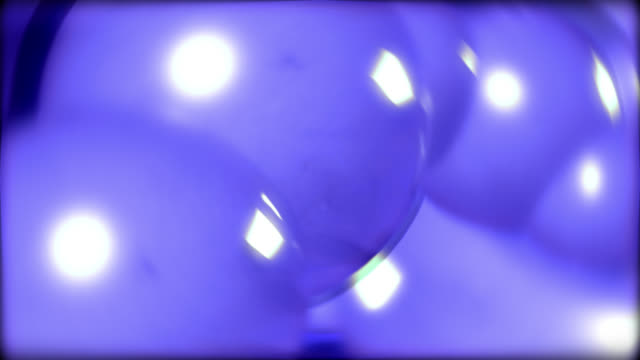 abstract blueish background of spheres moving - design element stock videos & royalty-free footage