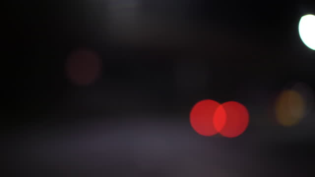 abstract bokeh lights, pov drive at night - moving past stock videos & royalty-free footage