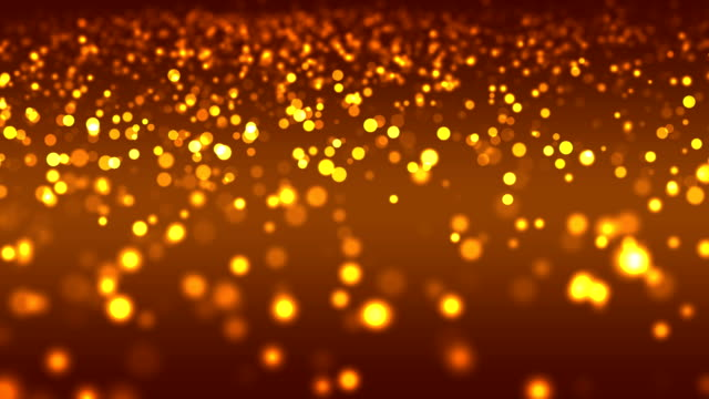 abstract bokeh on orange background (loopable) - orange background stock videos & royalty-free footage