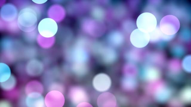 vídeos de stock, filmes e b-roll de fundo de partículas bokeh abstrata com loop infinito - purpurina