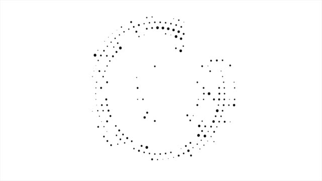 Abstract business background with circular halftone design in the form of an open circle of black dots around the circle.