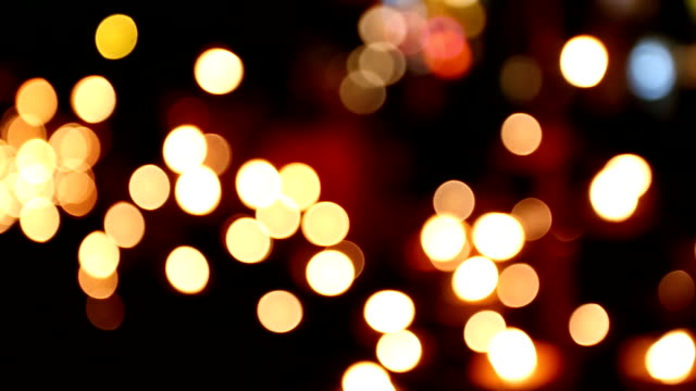 abstract candle bokeh - candlelight stock videos and b-roll footage
