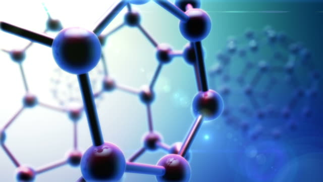 Abstract Carbon Molecule Background