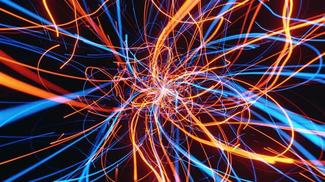 vidéos et rushes de vue interne abstraite du processus cern - relier les points