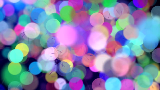 abstract christmas background - bright colour stock videos & royalty-free footage