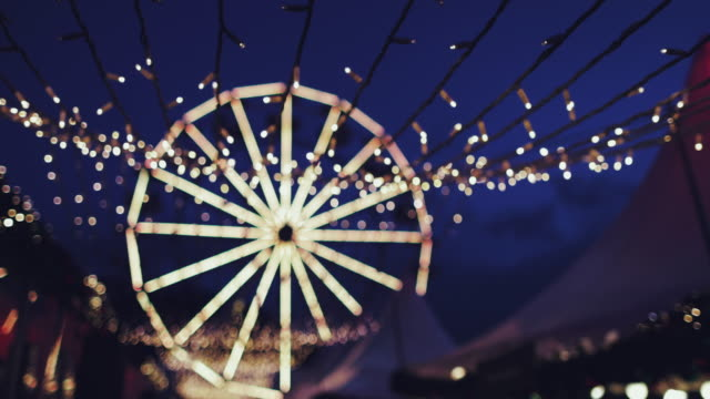 abstract christmas circular bokeh lights background - big wheel stock-videos und b-roll-filmmaterial