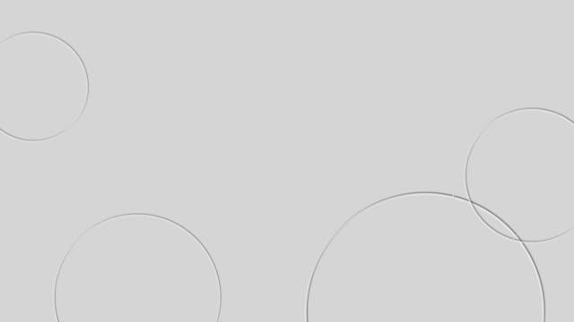 4k抽象サークル背景アニメーション - copy space点の映像素材/bロール