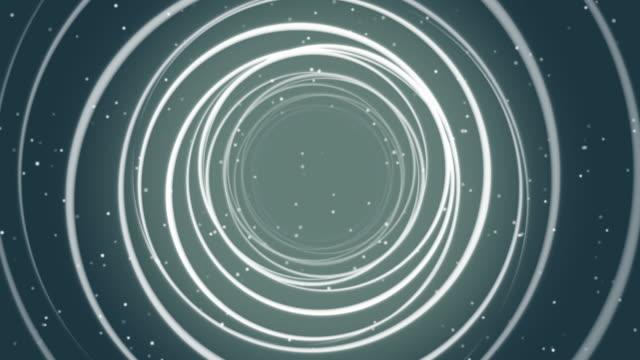 Abstract Circle Line of Dark Background Loop