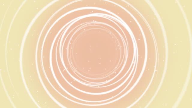 Abstract Circle Line of Orange Background Loop