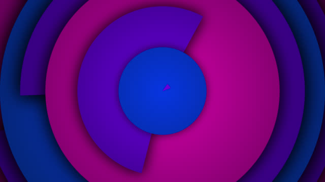 abstract circle rings background - loopable - three dimensional stock videos & royalty-free footage