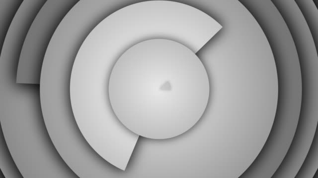 abstract circle rings background - loopable - viraggio monocromo video stock e b–roll