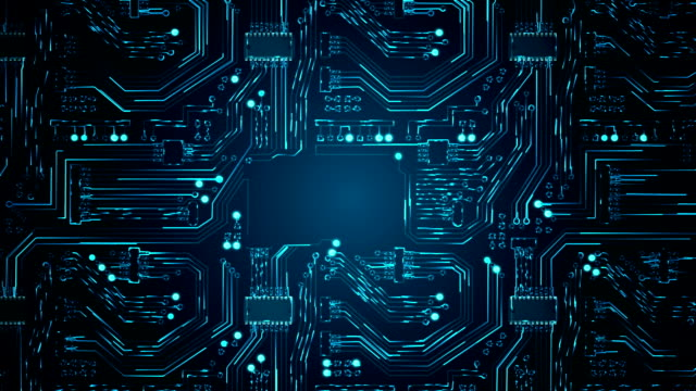 abstract circuit board background - digitally generated image stock videos & royalty-free footage