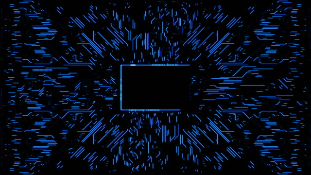 abstract circuit board background with copy space - blue stock videos & royalty-free footage